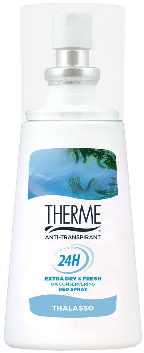 Therme Спрей – антиперспирант Талассо, 75 млFS-00897Устраняет бактерии, поддерживает натуральный PH баланс кожи, не вызывает раздражения. Содержит морские минералы и соли. Подходит для чувствительной кожи. Не содержит красителей, консервантов,фарнезола, фталатов, парабенов. Содержит спирт.