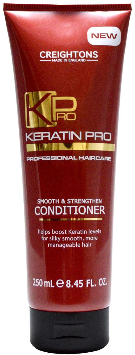 Creightons Укрепляющий и увлажняющий кондиционер для волос с кератином, 250 млMP59.4DКератин Pro обеспечивает режим для ухода за волосами, который поможет укрепить волосы и восстановить их эластичность. Кондиционер глубоко питает волосы от корней до самых кончиков, борется с пушением, придает волосам блеск, делая их гладкими и легкими в укладке. Подходит для всех типов волос.