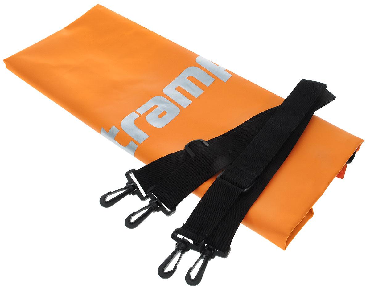 Гермомешок Tramp, цвет: оранжевый, 20 л. TRA-067TRA-067_оранжевыйГермомешок предназначен для транспортировки вещей и снаряжения на охоте, рыбалке, в туристических походах, на водных прогулках и их защиты от намокания (во время дождя или падении в воду/грязь). В сложенном виде очень компактный (поместится в карман рюкзака), имеет небольшой вес и в то же время крайне вместительный за счет 100% использования объема мешка. Материал ПВХ, из которого изготовлен мешок, прочный и 100% влагонепроницаемый.Прилагаются две съемные стропы-лямки для переноски на спине. Габаритный размеры мешка в разложенном виде: 62 х 24 см. Материал - ПВХ 500D, 580 гр/м.кв.Объем: 20 л.