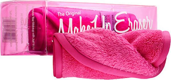 MakeUp Eraser салфетка для снятия макияжа розоваяSZ 589Makeup Eraser Original (розовая) уникальная салфетка, которая с невероятной легкостью снимает макияж, аккуратно очищая кожу лица абсолютно естественным образом. Салфетка воздействует без применения привычных средств для удаления декоративной косметики или умывания, значительно упрощает повседневный ритуал ухода и очищения, делает его приятным и легким.Секрет магических свойств салфетки Makeup Eraser заключается в особом переплетении полиэстеровых нитей. При производстве изделия поверхность ткани не подвергается никакой химической обработке, что гарантирует ее гипоаллергенность и безопасность применения, а для того, чтобы начать процедуру использования салфетки, достаточно просто хорошо смочить ее в чистой теплой воде. Салфетку Makeup Eraser можно с успехом применять для любого типа кожи, в том числе очень чувствительной, ее мягкое воздействие не вызывает раздражений или покраснений, высокий уровень качества ткани гарантирует длительное использование салфетки, а ее великолепные очищающие и ухаживающие свойства не снижаются даже после многократных стирок изделия.
