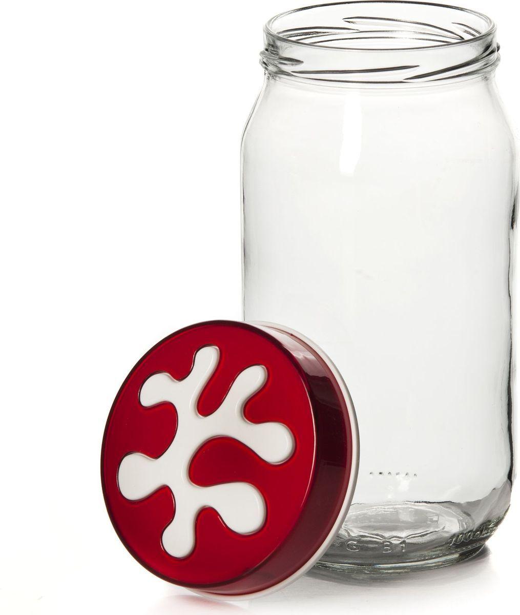 Банка для сыпучих продуктов Herevin, 1 л. 135377-205VT-1520(SR)Банка для сыпучих продуктов Herevin выполнена из высококачественного прочного стекла. Изделие снабжено плотно закручивающейся пластиковой крышкой с рельефным узором. Прозрачные стенки позволяют видеть содержимое. Такая банка отлично подойдет для хранения различных сыпучих продуктов: орехов, сухофруктов, чая, кофе, специй. Диаметр банки: 9 см. Высота банки: 18 см.