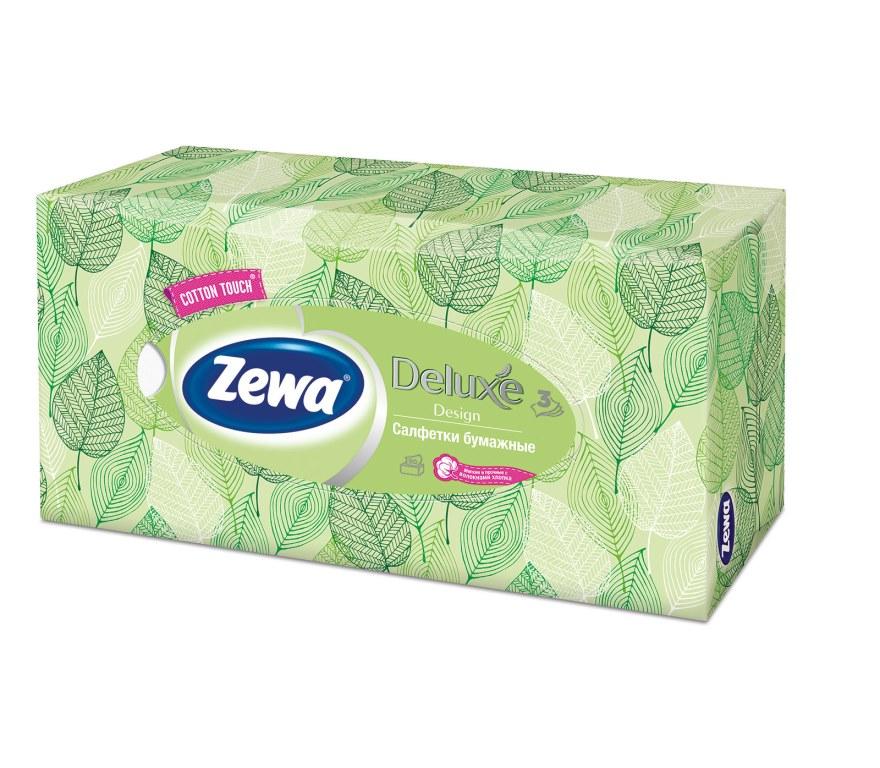 Салфетки бумажные косметические Zewa Deluxe, 90 шт, цвет: зеленыйSatin Hair 7 BR730MNБумажные салфетки Zewa COTTON TOUCH® произведены с добавлением натуральных волокон хлопка и одновременно сочетают в себе мягкость и прочность. Они деликатно и нежно заботятся о Вашей коже и дарят незабываемые ощущения прикосновения хлопка. Бумажные салфетки Zewa в коробочках с ярким дизайном станут незаменимыми помощниками дома или на работе. Они спасут не только во время простуды, но и в повседневных делах, когда нужно вытереть руки или лицо, поправить макияж. Белые 3-х слойные носовые платки без аромата. 5 разных дизайнов коробок. 90 платков в коробке. Состав: целлюлоза, волокна хлопка. Производство: Россия.