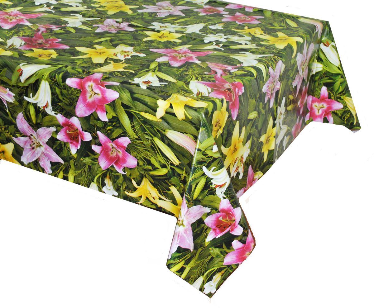 Столовая клеенка LCadesi Florista, прямоугольная, 100 х 140 см. FL100140-081-00VT-1520(SR)Столовая клеенка Florista с ярким дизайном украсит ваш стол и защитит его от царапин и пятен. Благодаря основе из нетканого материала не скользит по столу. Клеенка не имеет запаха и совершенно безопасна для человека.