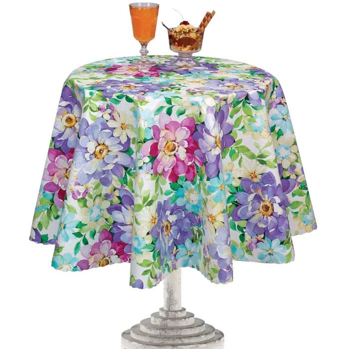 Столовая клеенка LCadesi Florista, прямоугольная, 100 х 140 см. FL100140-132-01VT-1520(SR)Столовая клеенка Florista с ярким дизайном украсит ваш стол и защитит его от царапин и пятен. Благодаря основе из нетканого материала не скользит по столу. Клеенка не имеет запаха и совершенно безопасна для человека.