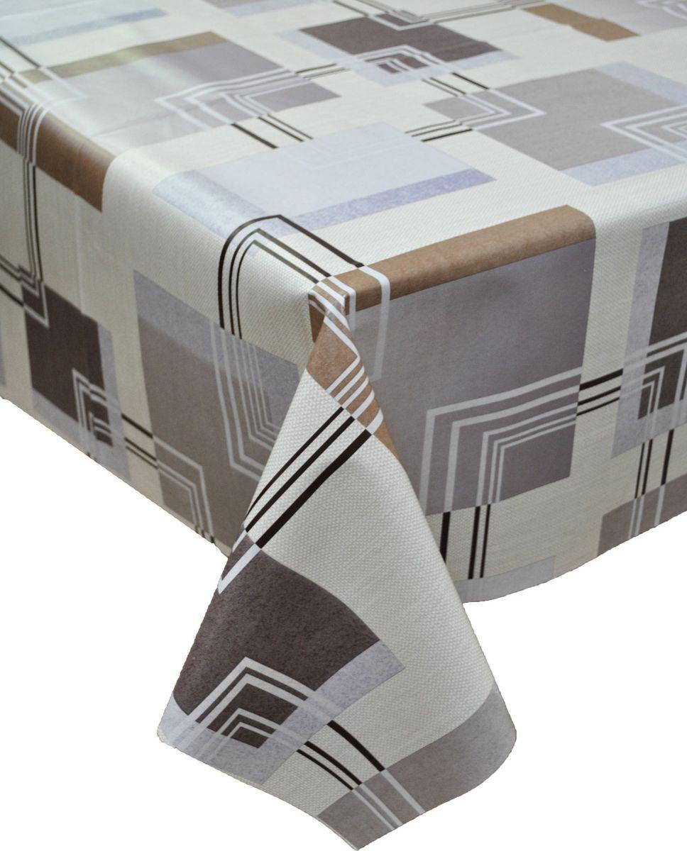 Клеенка столовая LCadesi Florista, прямоугольная, цвет: серый, коричневый, 130 х 165 см. FL130165-084-05FL130165-084-05Столовая клеенка LCadesi Florista с классическим дизайном украсит ваш стол и защитит его от царапин и пятен. Благодаря основе из нетканого материала не скользит по столу. Клеенка не имеет запаха и совершенно безопасна для человека.