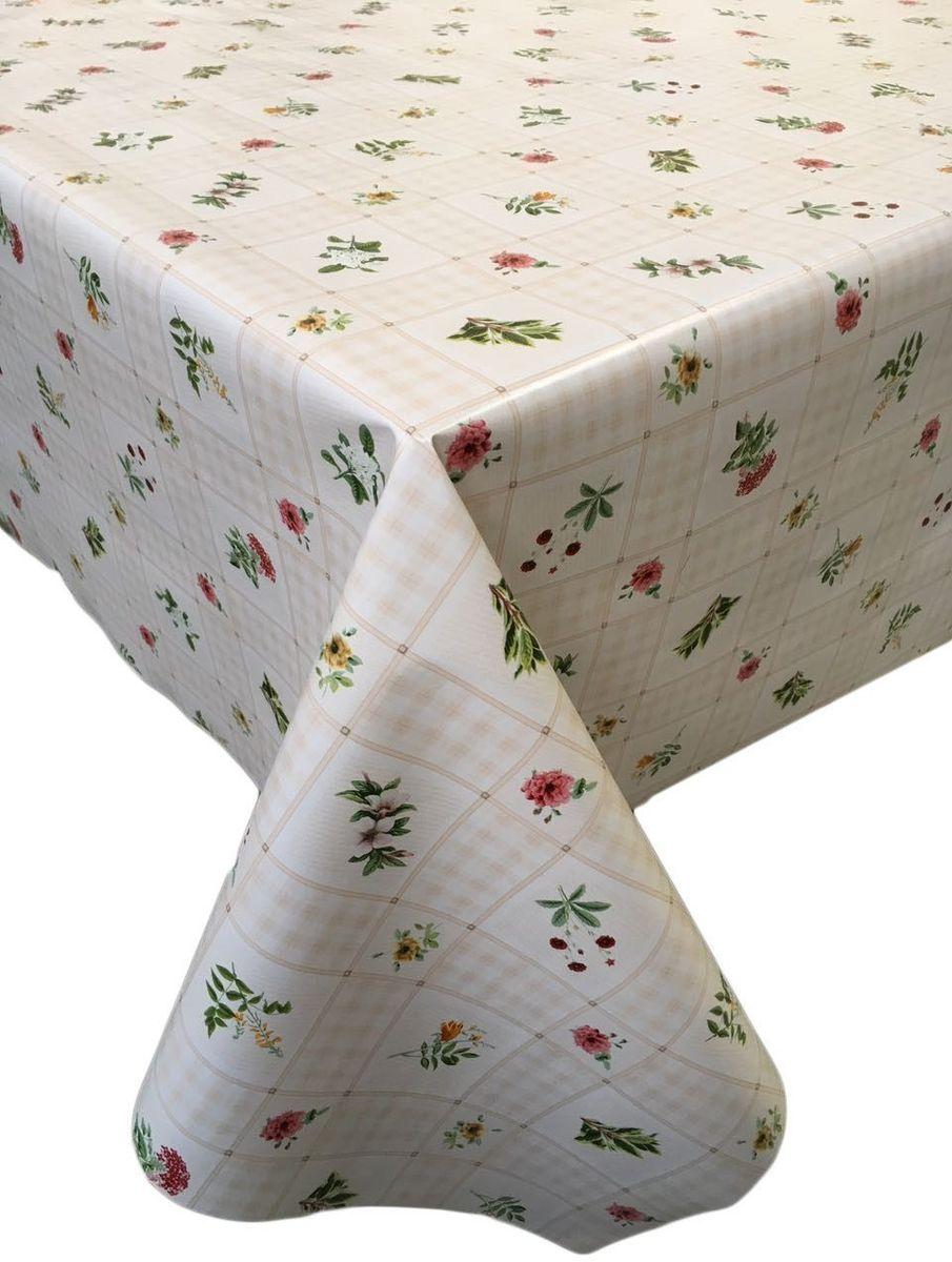 Столовая клеенка LCadesi Florista, прямоугольная, 130 х 165 см. FL130165-326-01VT-1520(SR)Столовая клеенка Florista с классическим дизайном украсит ваш стол и защитит его от царапин и пятен. Благодаря основе из нетканого материала не скользит по столу. Клеенка не имеет запаха и совершенно безопасна для человека.