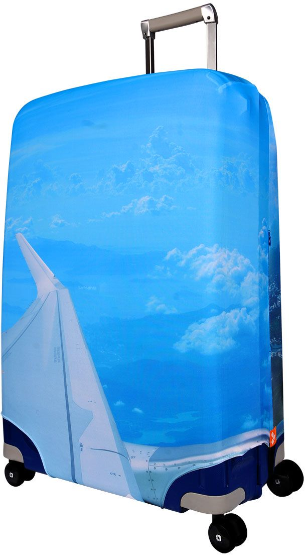 Чехол для чемодана Routemark SkyZone, размер M/L (65-74 см)FTS_ECO_011Чехол Routemark подходит для чемоданов средних размеров высотой от 65 до 74 см (24-28 inch) (мерить от пола). Изготовлен из спандекса (240 г/2м) и имеет упрочнённые швы.Чехлы Routemark отличаются плотным материалом и наличием 2 специальных потайных молний для боковых ручек с двух сторон. Внизу чехла - молния трактор, дополнительная резинка с фастексом для лучшей усадки. В комплекте предусмотрен отдельный аксессуар - мешочек, который можно использовать для разных других полезных мелочей (например, для хранения салфеток, денег, солнцезащитных очков, телефона, карты от номера и т.д.). У чехла стойкая сублимационная печать.Чехол можно стирать в стиральной машине.