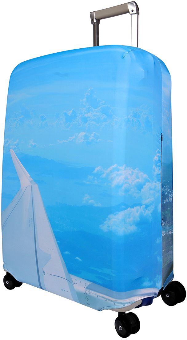 Чехол для чемодана Routemark SkyZone, размер L/XL (75-85 см)FTS_ECO_830Чехол Routemark подходит для больших чемоданов высотой от 75 до 85 см (29-33 inch) (мерить от пола). Изготовлен из спандекса (240 г/2м) и имеет упрочнённые швы.Чехлы Routemark отличаются плотным материалом и наличием 2 специальных потайных молний для боковых ручек с двух сторон. Внизу чехла - молния трактор, дополнительная резинка с фастексом для лучшей усадки. В комплекте предусмотрен отдельный аксессуар - мешочек, который можно использовать для разных других полезных мелочей (например, для хранения салфеток, денег, солнцезащитных очков, телефона, карты от номера и т.д.). У чехла стойкая сублимационная печать.Чехол можно стирать в стиральной машине.