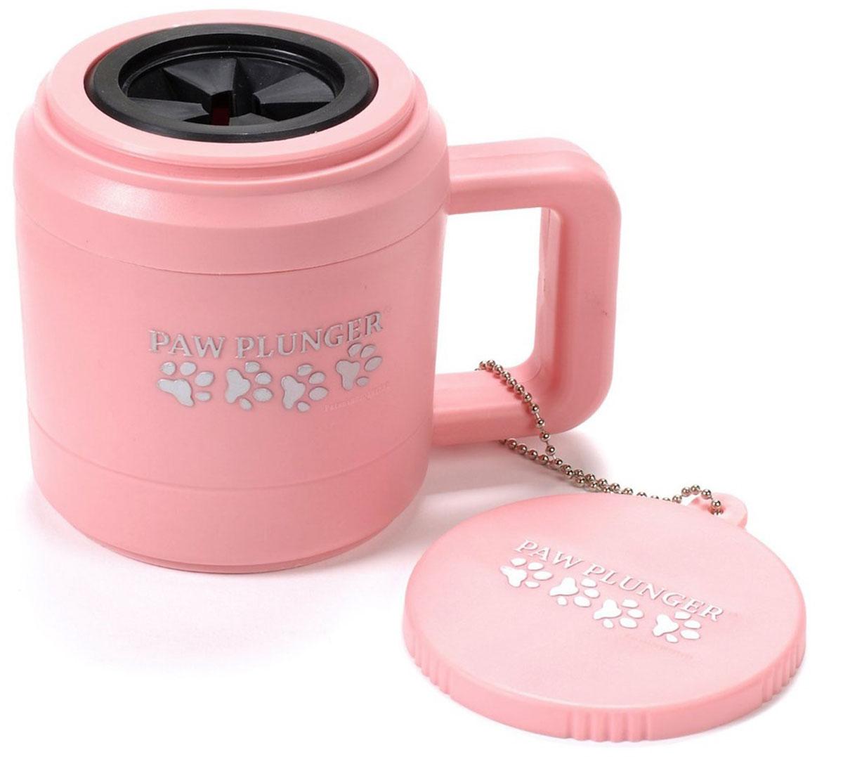 Лапомойка Paw Plunger, малая, цвет: розовый096Z-14-BPЛапомойка Paw Plunger - это уникальное по своей простоте устройство, которое позволит сохранить в чистоте вашу квартиру и собаку даже после самых активных прогулок в грязную погоду. Лапомойка Paw Plunger поможет вам забыть о грязных следах на полу и в ванной комнате. Лапомойка предельно проста в использовании: вам понадобиться только вода и при желании небольшое количество средства для мытья лап.