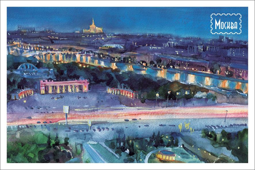 Открытка Даринчи № 15, акварельБрелок для ключейАкварельная открытка
