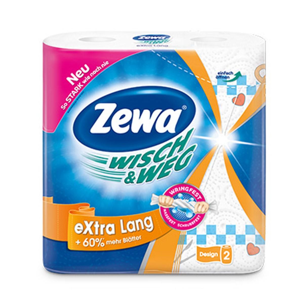 Бумажные полотенца Zewa Wish & Weg, двухслойные, 2 рулонаSVC-300Бумажные полотенца с рисунком от ZEWA – это яркий стиль жизни. Два плотных слоя прочных полотенец обеспечивают легкое удаление сухих и влажных загрязнений. Благодаря красочному дизайну они поднимают настроение и украшают ваш дом.Белые двухслойные прочные бумажные полотенца с цветным рисунком. 2 рулона в упаковке. Состав: целлюлоза.