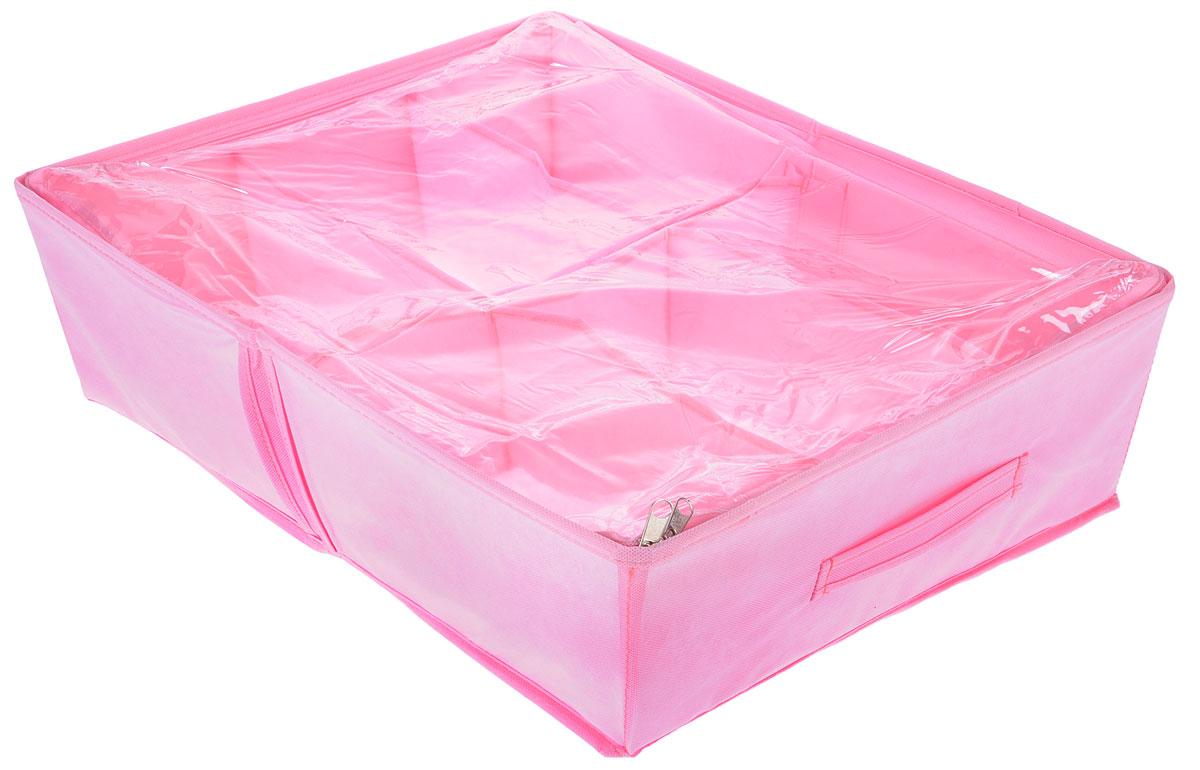 Органайзер для обуви Все на местах Minimalistic, цвет: розовый, 6 отделений, 53 х 40 х 15 смБрелок для ключейКомпактный складной органайзер изготовлен из высококачественного нетканого материала, который обеспечивает естественную вентиляцию. Материал позволяет воздуху свободно проникать внутрь, но не пропускает пыль. Органайзер отлично держит форму, благодаря вставкам из ПВХ. Изделие имеет 6 секций для хранения обуви.Такой органайзер позволит вам хранить обувь компактно и удобно. Размер секции: 26,5 х 20 см.