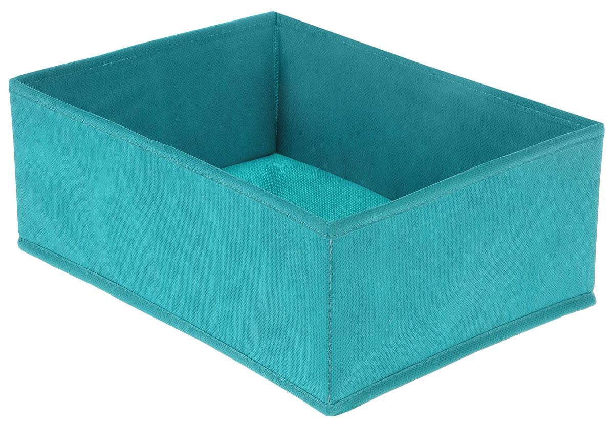 Органайзер Все на местах Minimalistic, цвет: бирюзовый, 30 х 24 х 11 см1012057Органайзер поможет удобно хранить вещи. Изделие выполнено из высококачественного нетканого материала, который обеспечивает естественную вентиляцию, позволяя воздуху проникать внутрь, но не пропускает пыль. Вставки из ПВХ хорошо держат форму. Изделие содержит одну большую секцию. Органайзер легко раскладывается и складывается. Оригинальный дизайн придется по вкусу ценителям эстетичного хранения. Размер органайзера в разложенном виде: 30 х 24 х 11 см.