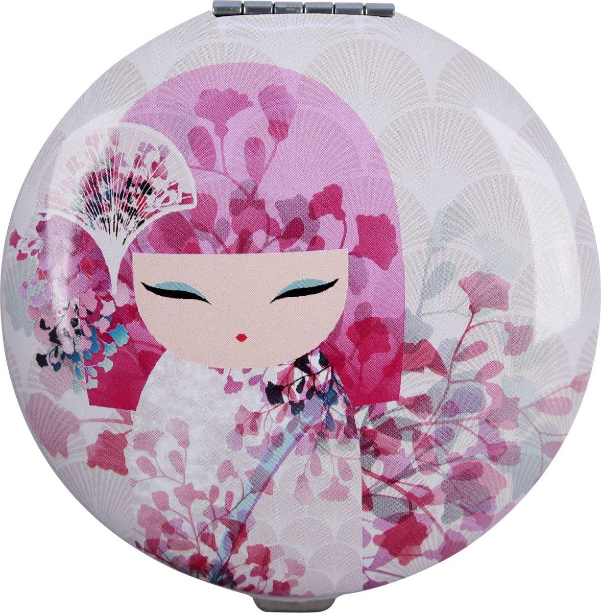 Зеркало карманное Kimmidoll Макото. KF114728032022Карманное зеркальце - Необычный и очень приятный подарок подруге, маме или коллеге. Зеркало двойное, одно обычное, второе увеличивающее. Диаметр: 7 см. Упаковка: подарочная коробочка. Материал: металл.