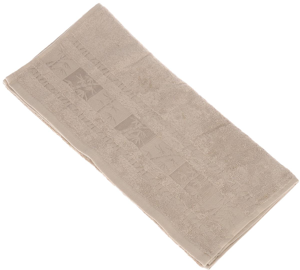 Полотенце Brielle Bamboo, цвет: мокко, 50 х 90 см68/5/2Полотенце Brielle Bamboo выполнено из бамбука с содержанием хлопка. Изделие очень мягкое, оно отлично впитывает влагу, быстро сохнет, сохраняет яркость цвета и не теряет формы даже после многократных стирок. Одна из боковых сторон оформлена оригинальным рисунком и надписью. Полотенце Brielle Bamboo очень практично и неприхотливо в уходе. Такое полотенце послужит приятным подарком.