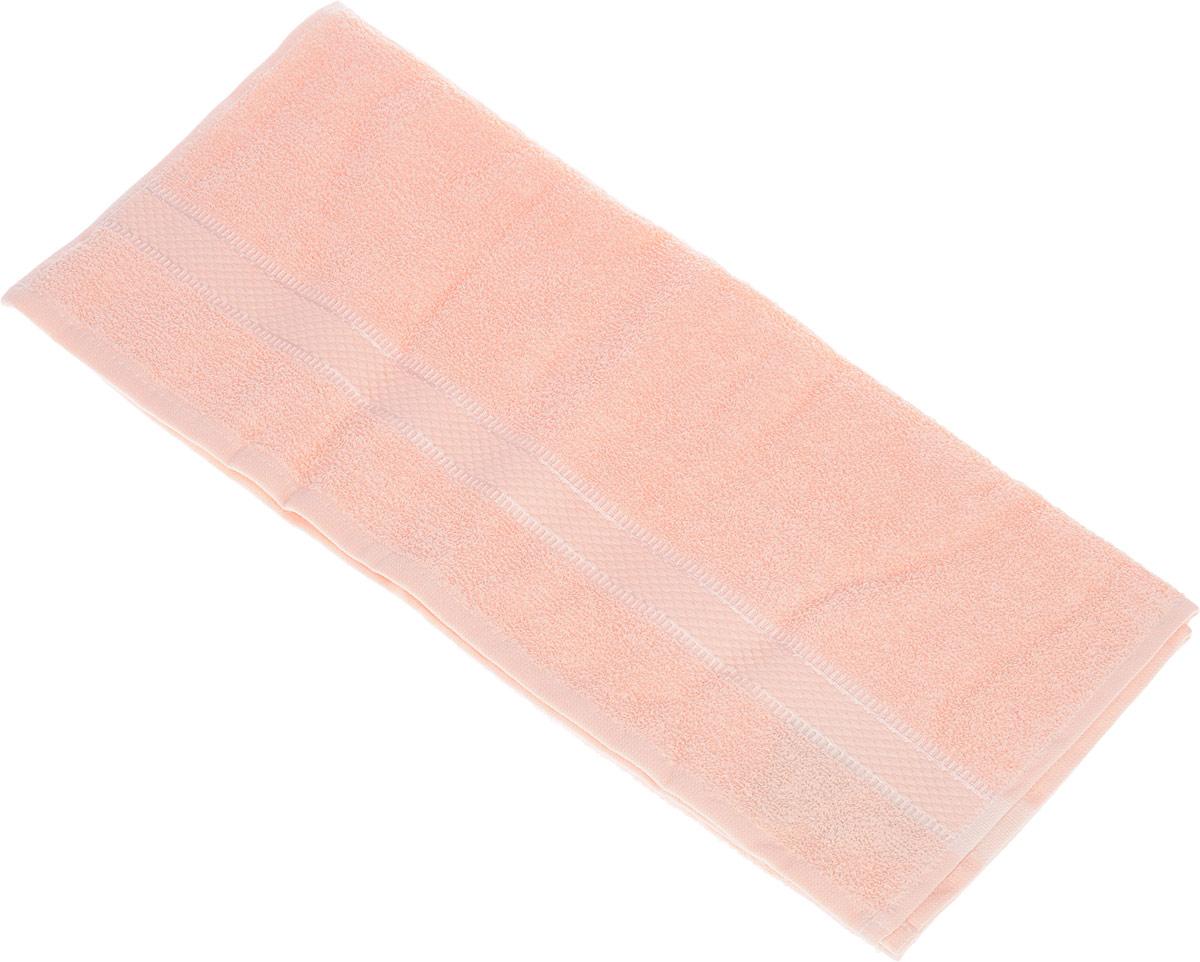 Полотенце Brielle Basic, цвет: персиковый, 50 х 85 см68/5/3Полотенце Brielle Basic выполнено из 100% хлопка. Изделие очень мягкое, оно отлично впитывает влагу, быстро сохнет, сохраняет яркость цвета и не теряет формы даже после многократных стирок. Лаконичные бордюры подойдут для любого интерьера ванной комнаты. Полотенце прекрасно впитывает влагу и быстро сохнет. При соблюдении рекомендаций по уходу не линяет и не теряет форму даже после многократных стирок.Полотенце Brielle Basic очень практично и неприхотливо в уходе.Такое полотенце послужит приятным подарком.