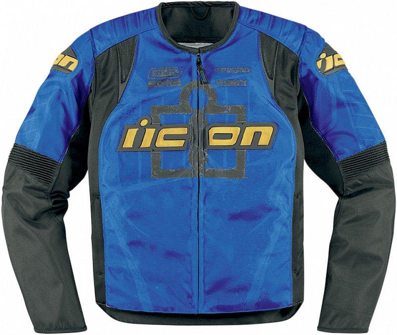 Мотокуртка Icon Overlord Type-1, цвет: синий. 2820. Размер L мотобрюки icon overlord textile цвет черный 2821 размер m