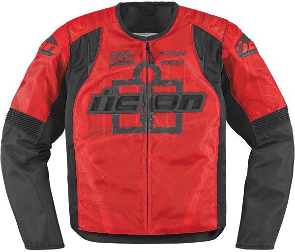 Мотокуртка Icon Overlord Type-1, цвет: красный. 2820. Размер M мотобрюки icon overlord textile цвет черный 2821 размер m
