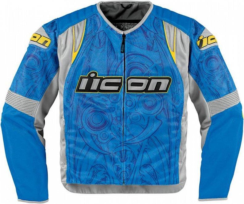 Мотокуртка Icon Icon Overlord Sportbike SB1, цвет: синий. Размер XXL мотобрюки icon overlord textile цвет черный 2821 размер m