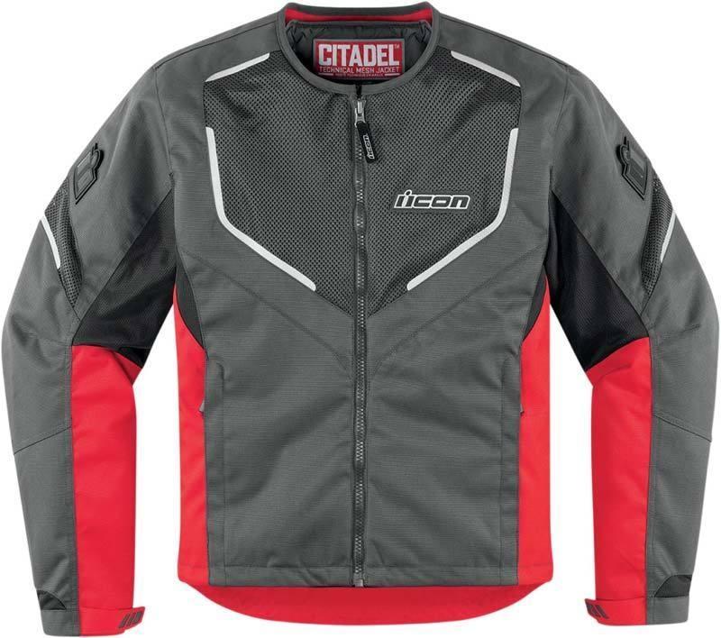Мотокуртка Icon Icon Citadel Mesh, цвет: красный. Размер Mone111Icon Merc Deployed Camo на первый взгляд может показаться обычной курткой, выполненной в свободном покрое и интересной зеленой камуфляжной расцветке. Но, несмотря на внешнее сходство с городской одеждой, она сочетает в себе все необходимые для комфорта и безопасности мотоциклиста качества. Текстильная основа усилена дополнительными вставками из баллистического нейлона, продуманная конструкция обеспечивает хорошую вентиляцию, а протекторы D3O защитят в случае неприятностей на дороге.