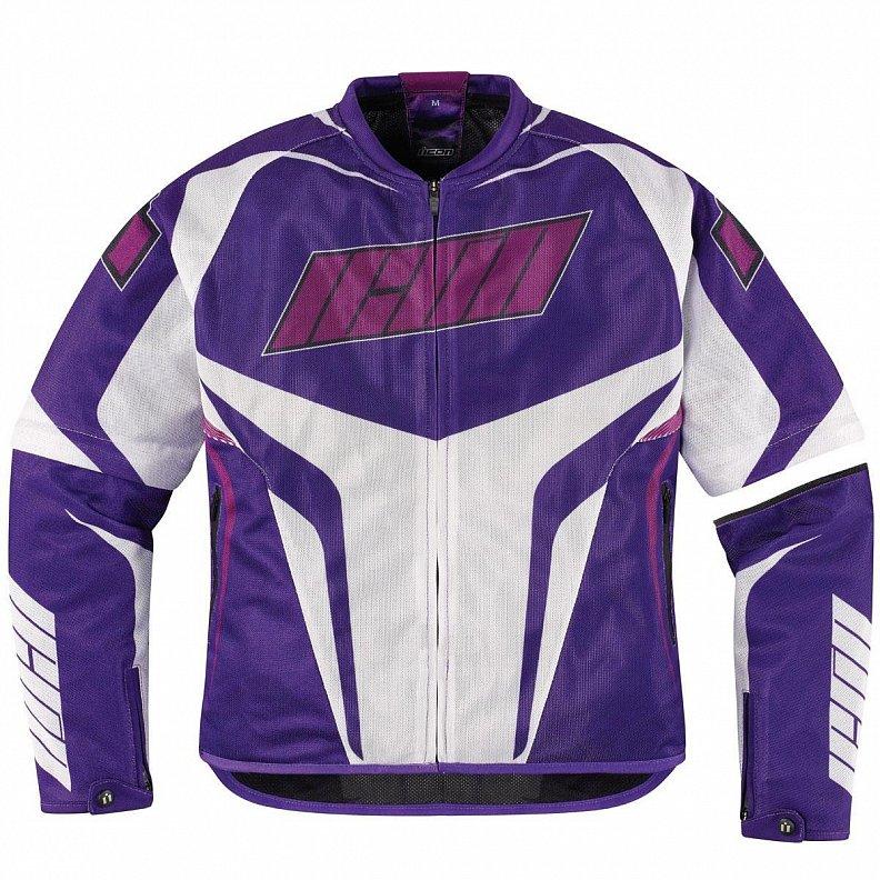 Мотокуртка женская Icon Icon Hooligan, цвет: фиолетовый. Размер Sone112Стильная и яркая фиолетовая мотокуртка Icon Hooligan отлично подойдет для дерзких современных мотоциклисток, которые ценят в экипировке не только надежность, но и привлекательный внешний вид. Она изготовлена из высококачественных материалов, имеет оригинальный и удобный покрой, обеспечивает высокий уровень защиты и комфорта, позволяя максимально уверенно чувствовать себя во время поездок по городу.