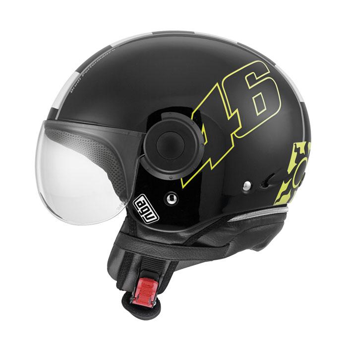 Мотошлем AGV Bali Copter Vale 46, цвет: черный. 4801A0E0. Размер XS4801A0E0-001-XSAGV Bali Copter Vale 46 – это шлем открытого типа (3/4), предназначенный для городской езды. Обеспечит достаточную защиту головы и комфорт в летнее время года. Популярен среди водителей мопедов, чопперов и классических крузеров.