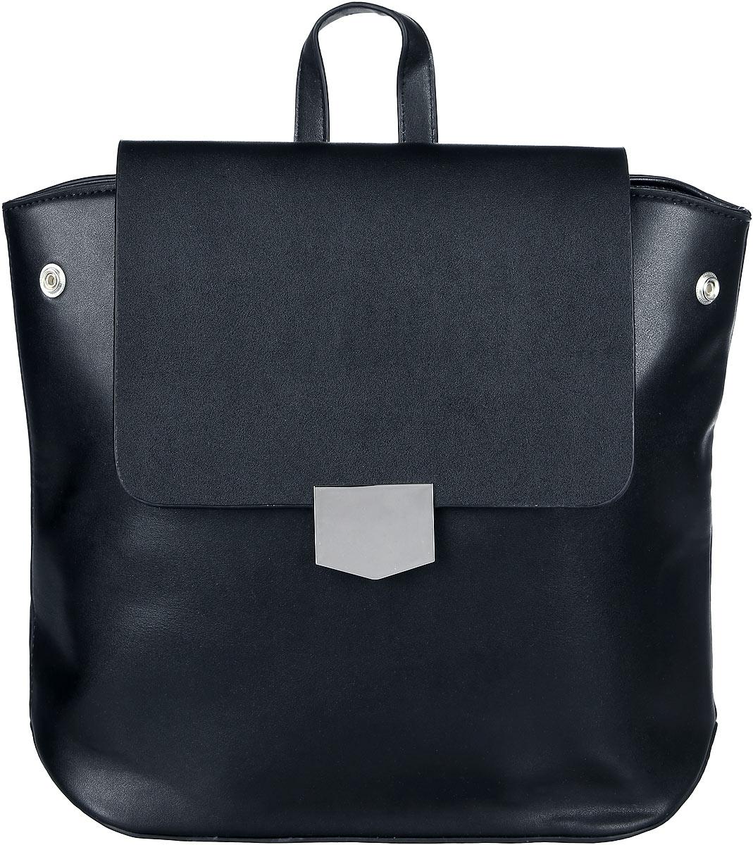 Рюкзак женский OrsOro, цвет: черный. D-262/4S76245Элегантный рюкзак OrsOro исполнен из экокожи высокого качества. Имеет одно вместительное отделение прикрытое клапаном на магнитной кнопке и под ним застегивающийся на молнию. Так же в отделении присутствуют два накладных кармашка под сотовый телефон или для мелочей и один прорезной карман на застежке-молнии. Рюкзак обладает удобной ручкой сверху для переноски и двумя регулируемыми плечевыми ремнями-лямками на карабинах. По бокам рюкзака имеются четыре кнопки благодаря которым можно регулировать форму рюкзака от прямоугольной до трапецевидной.