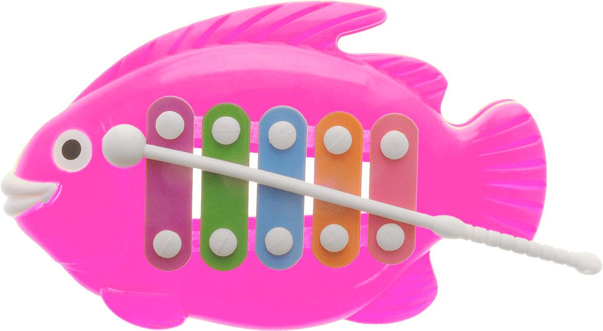 Veld-Co Металлофон Рыбка цвет розовый