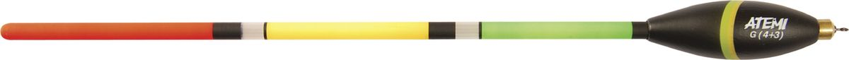 Поплавок отгруженный Atemi, 4+4 г. 408-74044MABLSEH10001Поплавок отгруженный Atemi предназначен для ловли с дальним забросом, для ночной ловли со светлячком и для ловли на живца. Выполнен из окрашенной бальзы.Вес огрузки: 4 г.