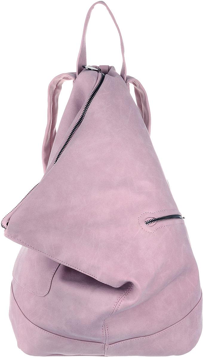 Рюкзак женский OrsOro, цвет: розовый. D-263/2S76245Рюкзак выполнен из высококачественной искусственной кожи. Изделие оснащено ручкой для подвешивания и удобными лямками, длину которых можно изменять с помощью пряжек. На лицевой стороне расположен один накладной открытый карман и вшитый карман на молнии. Изделие закрывается с помощью молнии. Внутри расположено главное вместительное отделение, которое содержит два небольших кармана на молнии и три открытых кармана для телефона и мелочей.