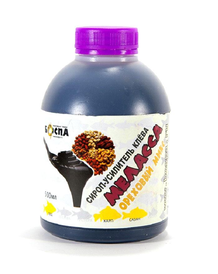 Жидкий ароматизатор для рыбалки Боспа Ореховый Микс, 500 млЖК/МОМДобавление мелассы в прикормку увеличивает ее эффективность в разы. Она является подсластителем, увлажнителем, а так же связующим компонентом. Меласса имеет специфический запах и служит атрактантом, что конечно привлекает мирную рыбу. Ароматика усилит свойства мелассы и привлечет нужную рыбу в точку ловли.