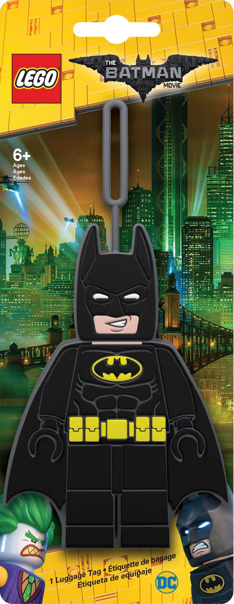 Бирка для багажа LEGO Batman Movie Batman. 5172751727Бирка для багажа LEGO Batman Movie Batman - силиконовая бирка надежно крепится к багажу с помощью петли. Яркий и неповторимый дизайн сразу же привлечет внимание, и вы легко отыщите свой чемодан на транспортной ленте. Запишите свои контактные данные на обратной стороне бирки и можете не бояться, что ваш чемодан потеряется, ведь теперь работники аэропорта точно будут знать его хозяина.