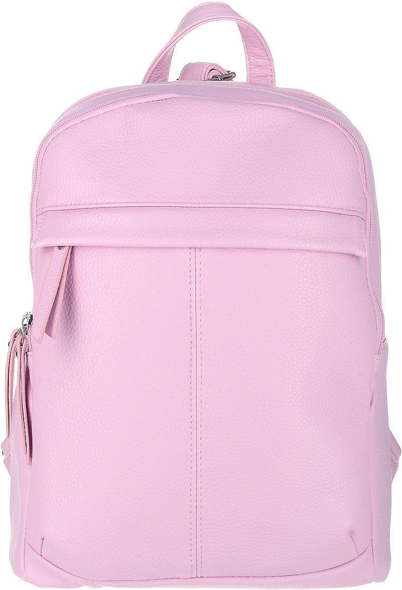 Рюкзак женский OrsOro, цвет: розовый. D-237/20KV996OPY/MФутуристический рюкзак OrsOro исполнен из экокожи высокого качества. Имеет два отделения на молнии. В первом, более объемном отделении присутствуют накладной широкий карман для мелочей и один прорезной карман на застежке-молнии. Во втором два накладных кармашка под сотовый телефон или для мелочей, так же его можно использовать для переноски планшета. Рюкзак обладает удобной ручкой сверху для переноски и двумя регулируемыми плечевыми ремнями-лямками. Снаружи, спереди и сзади, так же имеются два прорезных кармана на застежке-молнии.