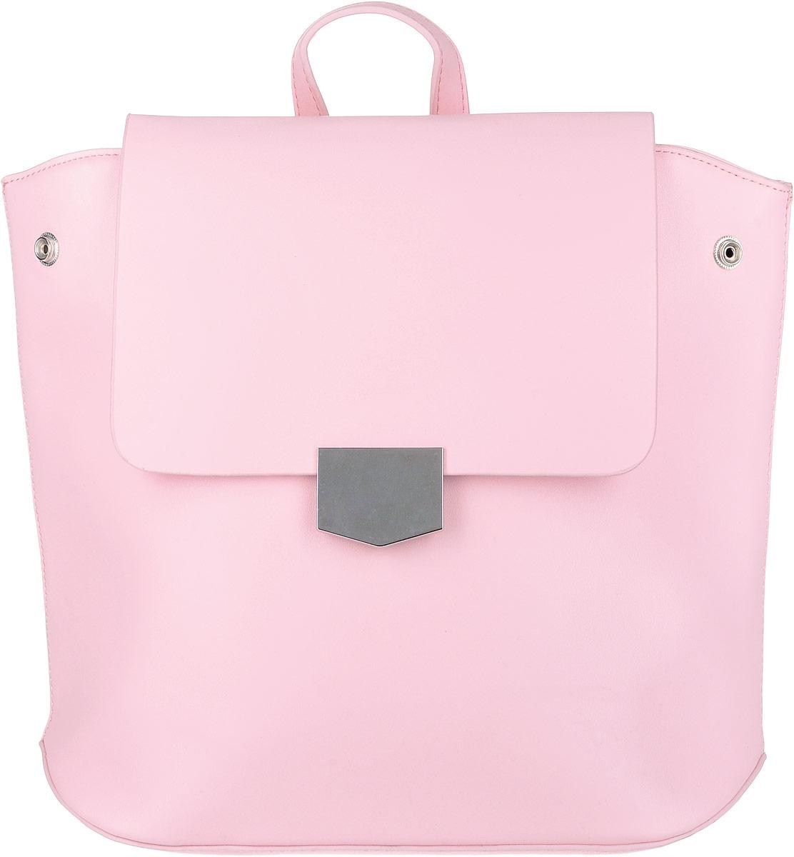 Рюкзак женский OrsOro, цвет: нежно-розовый. D-262/223008Элегантный рюкзак OrsOro исполнен из экокожи высокого качества. Имеет одно вместительное отделение прикрытое клапаном на магнитной кнопке и под ним застегивающийся на молнию. Так же в отделении присутствуют два накладных кармашка под сотовый телефон или для мелочей и один прорезной карман на застежке-молнии. Рюкзак обладает удобной ручкой сверху для переноски и двумя регулируемыми плечевыми ремнями-лямками на карабинах. По бокам рюкзака имеются четыре кнопки благодаря которым можно регулировать форму рюкзака от прямоугольной до трапецевидной.