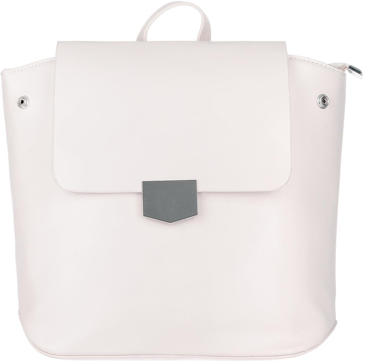 Рюкзак женский OrsOro, цвет: топленое молоко. D-262/3RivaCase 8460 blackЭлегантный рюкзак OrsOro исполнен из экокожи высокого качества. Имеет одно вместительное отделение прикрытое клапаном на магнитной кнопке и под ним застегивающийся на молнию. Так же в отделении присутствуют два накладных кармашка под сотовый телефон или для мелочей и один прорезной карман на застежке-молнии. Рюкзак обладает удобной ручкой сверху для переноски и двумя регулируемыми плечевыми ремнями-лямками на карабинах. По бокам рюкзака имеются четыре кнопки благодаря которым можно регулировать форму рюкзака от прямоугольной до трапецевидной.
