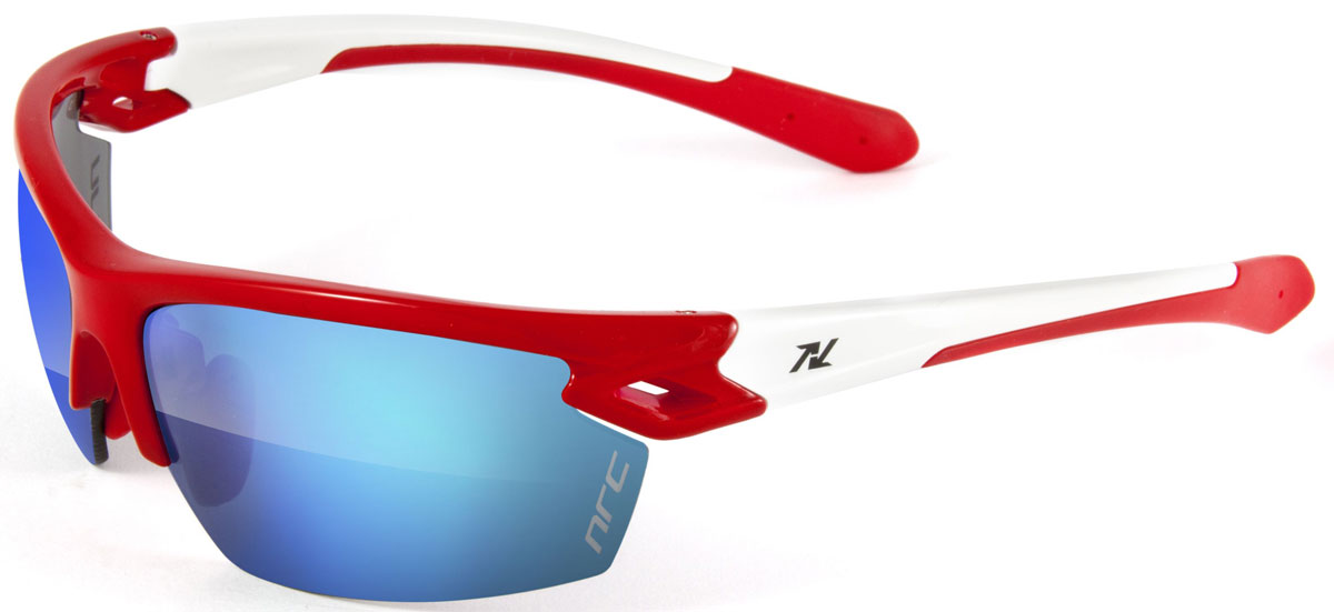 Очки солнцезащитные NRC, цвет: Красный. 2101721017Очки солнцезащитные NRC - предназначены, как для езды на велосипеде, так и для многих других видов спорта. Бренд NRC известен собственными фирменными разработками, адаптирующими очки под разные климатические условия, различное время суток, степень освещенности, а также под индивидуальные потребности каждого конкретного пользователя. Особенности:Синие зеркальные линзыМатериал оправы – нейлон (TR90)Оправа - регулируемые носоупоры, возможность использовать одновременно с обычными (рецептурными) очкамиМатериал линзы - поликарбонат (РС)Покрытие –защитное от царапин, антибликовое, антизапотевающее, зеркальноеПрозрачность -13%Категория фильтра -3Вес -25,5 гКривизна (изгиб) - 8