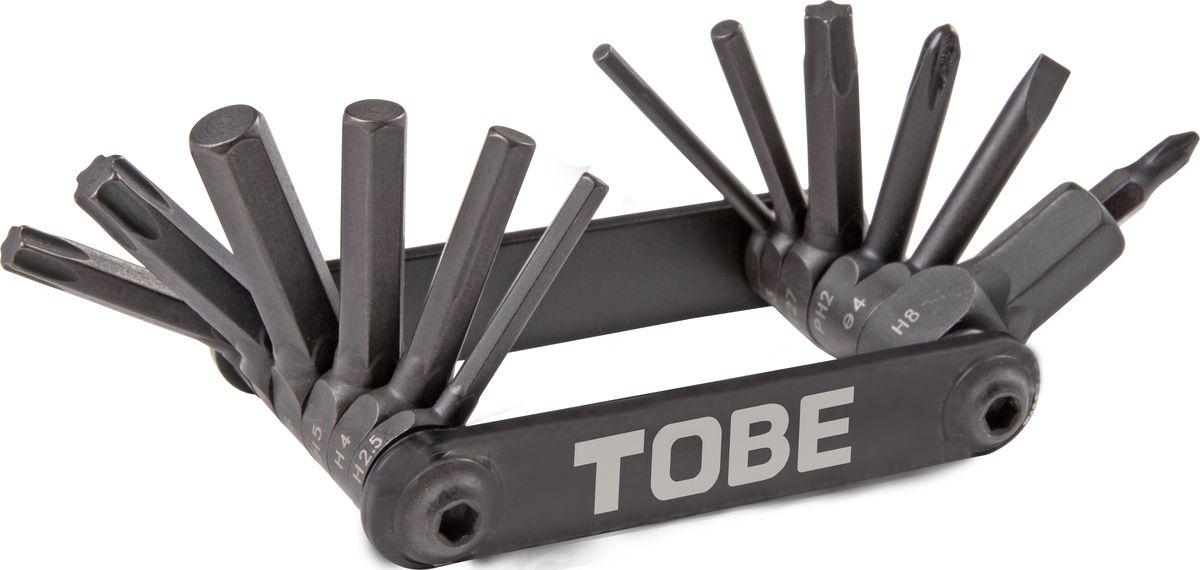 Складной инструмент To Be, 14 в 1. 2143MW-1462-01-SR серебристыйСкладные инструменты B976070 Особенности: шестигранники 2/2.5/3/4/5/6/8мм , Т25/Т27/Т30, отвертки +1/+2/-3/-4