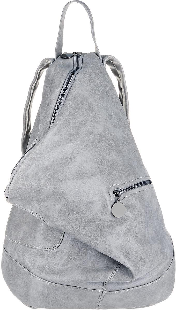 Рюкзак женский OrsOro, цвет: серый. D-263/3S76245Рюкзак выполнен из высококачественной искусственной кожи. Изделие оснащено ручкой для подвешивания и удобными лямками, длину которых можно изменять с помощью пряжек. На лицевой стороне расположен один накладной открытый карман и вшитый карман на молнии. Изделие закрывается с помощью молнии. Внутри расположено главное вместительное отделение, которое содержит два небольших кармана на молнии и три открытых кармана для телефона и мелочей.