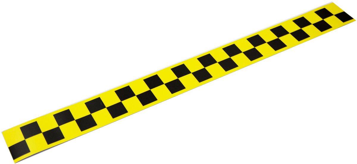 Наклейка-магнит на такси Оранжевый слоник, цвет: желтый, 60 х 6 см, 2 шт