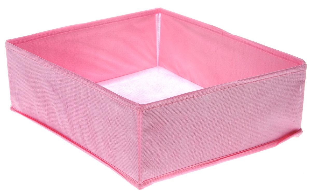 Органайзер Все на местах Minimalistic, цвет: розовый, 32 х 32 х 11 см1014055Органайзер поможет удобно хранить вещи. Изделие выполнено из высококачественного нетканого материала, который обеспечивает естественную вентиляцию, позволяя воздуху проникать внутрь, но не пропускает пыль. Вставки из ПВХ хорошо держат форму. Изделие содержит одну большую секцию. Органайзер легко раскладывается и складывается. Оригинальный дизайн придется по вкусу ценителям эстетичного хранения. Размер органайзера в разложенном виде: 32 х 32 х 11 см.