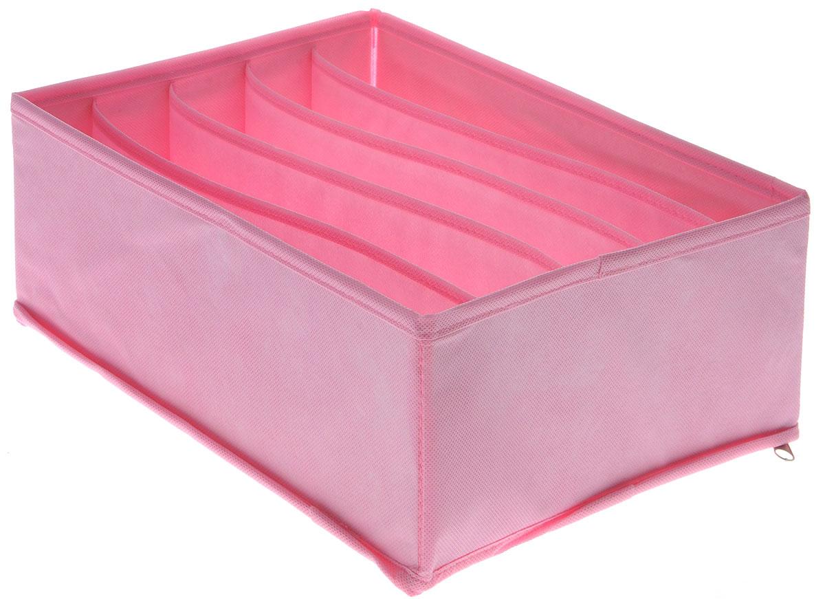 Органайзер Все на местах Minimalistic, цвет: розовый, 5 ячеек, 30 х 24 х 11 смPANTERA SPX-2RSОрганайзер Все на местах Minimalistic поможет упорядочить размещение небольших вещей. Изделие выполнено из высококачественного нетканого материала, который обеспечивает естественную вентиляцию, позволяя воздуху проникать внутрь, но не пропускает пыль. Вставки из ПВХ хорошо держат форму. Изделие содержит 5 секций. Органайзер легко раскладывается и складывается. Оригинальный дизайн придется по вкусу ценителям эстетичного хранения. Размер органайзера в разложенном виде: 30 х 24 х 11 см.