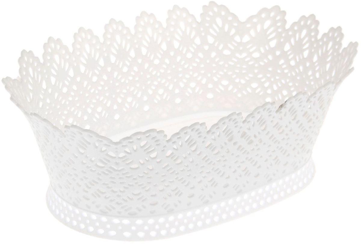 Корзинка Fimako, ажурная, цвет: белый, 20 х 28 х 10 см54 009312От качества посуды зависит не только вкус еды, но и здоровье человека. Любой хозяйке будет приятно держать его в руках. С посудой и кухонной утварью Fimako приготовление еды и сервировка стола превратятся в настоящий праздник.