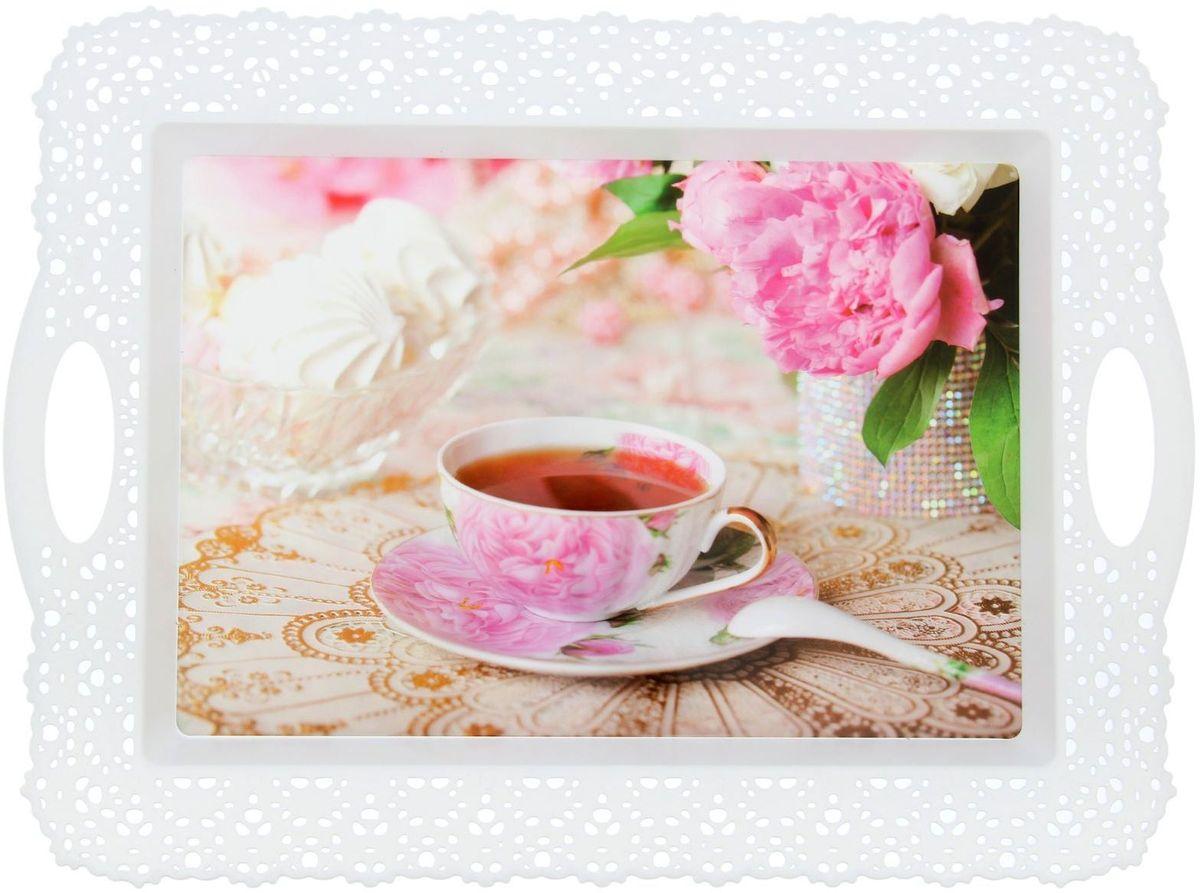 Поднос Fimako К чаю, 44 х 32 х 1 смVT-1520(SR)От качества посуды зависит не только вкус еды, но и здоровье человека. Любой хозяйке будет приятно держать его в руках. С посудой и кухонной утварью Fimako приготовление еды и сервировка стола превратятся в настоящий праздник.