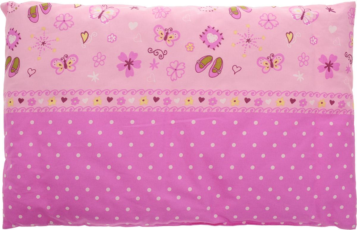 Сонный гномик Подушка детская Горошек цвет розовый 60 х 40 см -  Детский текстиль