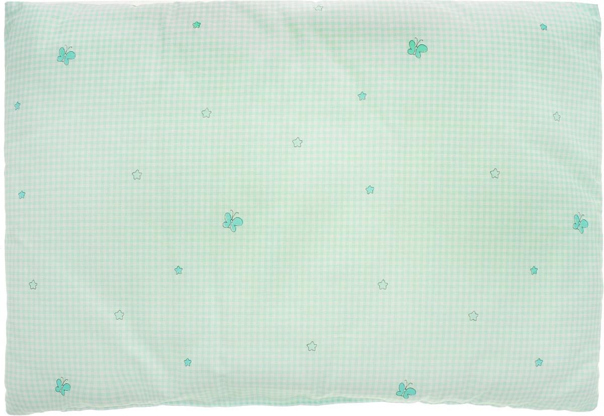 Сонный гномик Подушка детская Звездочки цвет мятный 60 х 40 см -  Детский текстиль