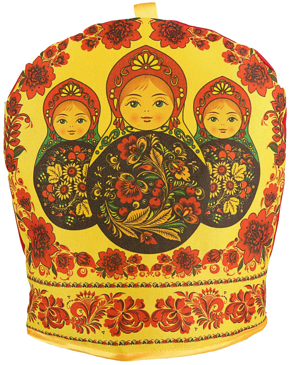 Грелка на чайник Матрешка, 25 х 23 х 3 смVT-1520(SR)Текстильные товары пользовались большой популярностью во все времена. Это беспроигрышный подарок, ведь все любят мягкие и приятные на ощупь ткани. Грелка на чайник — неповторимое сочетание необычного дизайна и высокого качества.