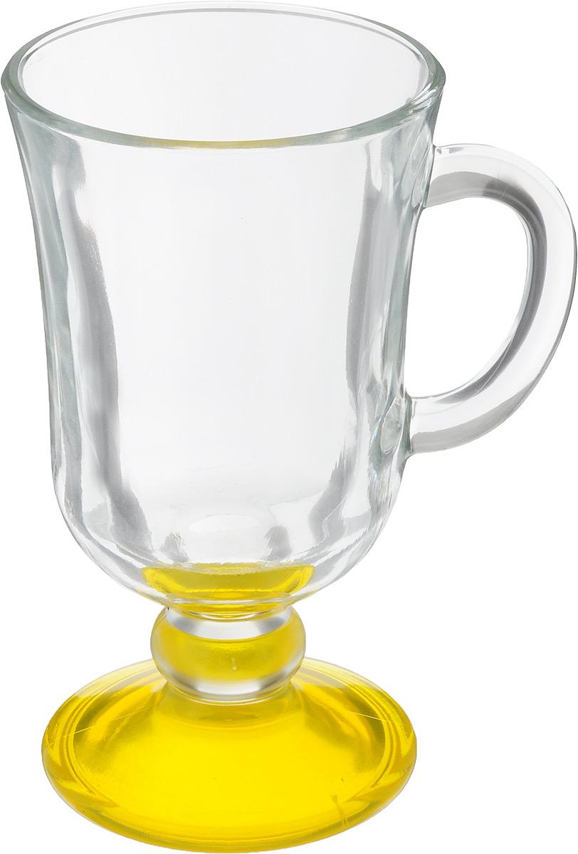 Кружка OSZ Глинтвейн, цвет: прозрачный, желтый, 200 мл68/5/4Кружка OSZ Глинтвейн изготовлена из стекла двух цветов. Изделие идеально подходит для сервировки стола.Кружка не только украсит ваш кухонный стол, но и подчеркнет прекрасный вкус хозяйки. Диаметр кружки (по верхнему краю): 7,5 см. Высота ножки: 3,5 см. Высота кружки: 14 см. Объем кружки: 200 мл.