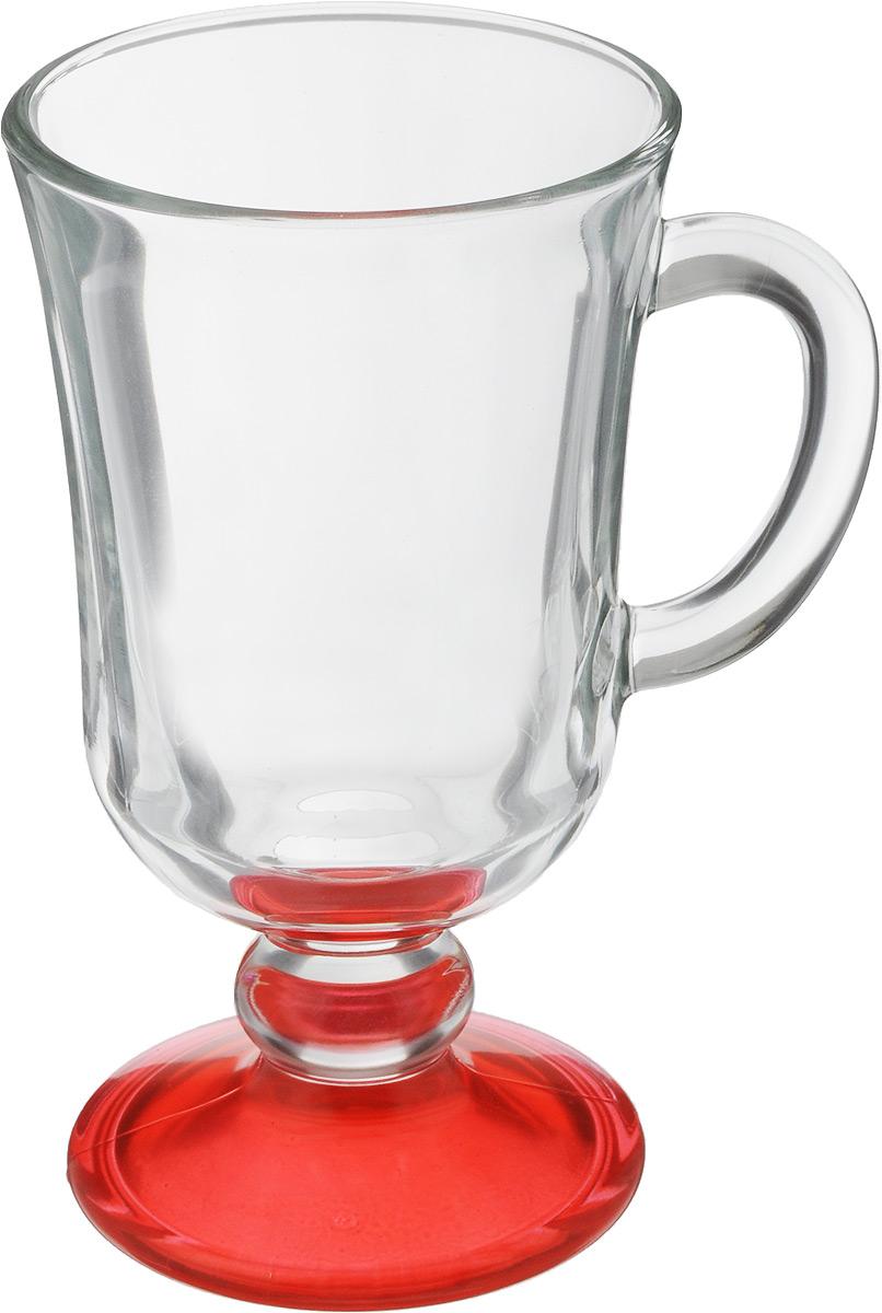 Кружка OSZ Глинтвейн, цвет: прозрачный, красный, 200 мл68/5/2Кружка OSZ Глинтвейн изготовлена из стекла двух цветов. Изделие идеально подходит для сервировки стола.Кружка не только украсит ваш кухонный стол, но и подчеркнет прекрасный вкус хозяйки. Диаметр кружки (по верхнему краю): 7,5 см. Высота ножки: 3,5 см. Высота кружки: 14 см. Объем кружки: 200 мл.