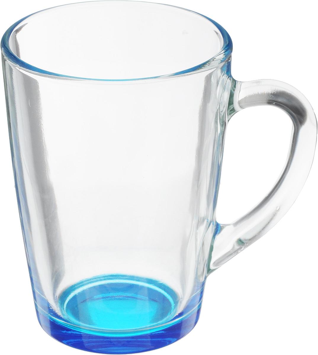Кружка OSZ Капучино, цвет: прозрачный, синий, 300 мл. 07C1334LM_прозрачный, синий115510Кружка OSZ Капучино изготовлена из стекла двух цветов. Изделие идеально подходит для сервировки стола.Кружка не только украсит ваш кухонный стол, но подчеркнет прекрасный вкус хозяйки. Диаметр кружки (по верхнему краю): 8 см. Высота кружки: 11 см. Объем кружки: 300 мл.