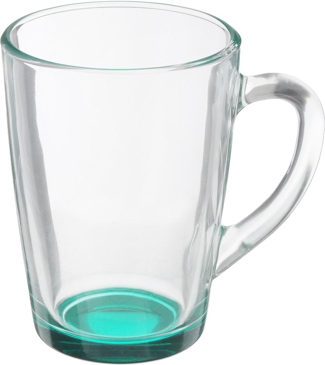 Кружка OSZ Капучино, цвет: прозрачный, зеленый, 300 мл. 07C1334LM54 009312Кружка OSZ Капучино изготовлена из стекла двух цветов. Изделие идеально подходит для сервировки стола.Кружка не только украсит ваш кухонный стол, но и подчеркнет прекрасный вкус хозяйки. Диаметр кружки (по верхнему краю): 8 см. Высота кружки: 11 см. Объем кружки: 300 мл.